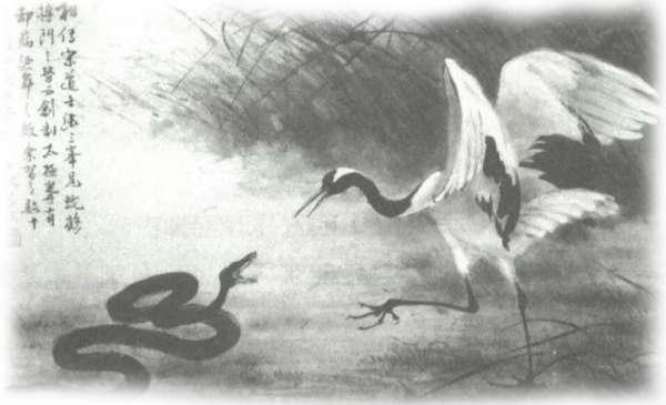 De wing chun legende van de slang en de kraanvogel